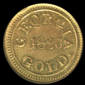 1830 TEMPLETON REID $2.5 MS obverse