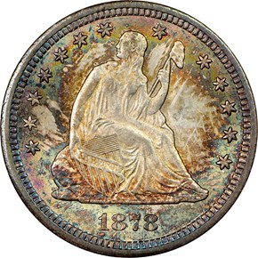 1878 CC 25C MS obverse