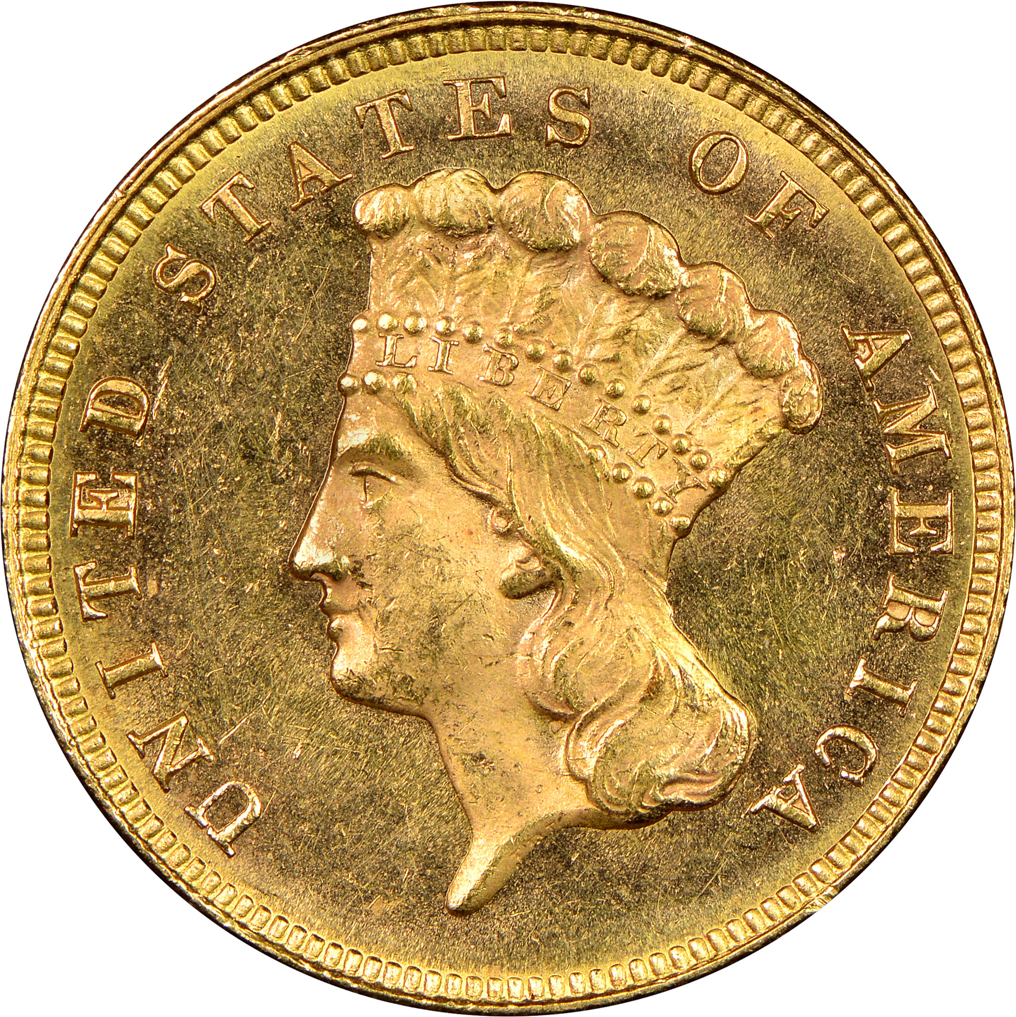 1879 3 Ms Three Dollar Gold Ngc