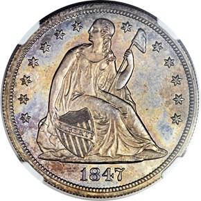 1847 $1 PF obverse