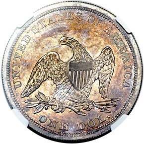 1847 $1 PF reverse