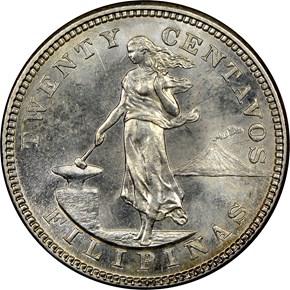 1904 S USA-PHIL 20C MS obverse