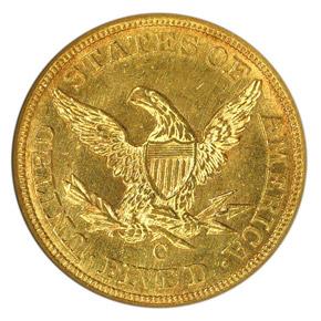 1847 C $5 MS reverse