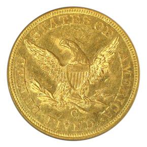 1851 C $5 MS reverse