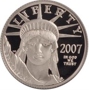 2007 W EAGLE P$25 PF obverse