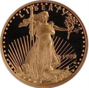 1998 W EAGLE G$25 PF obverse