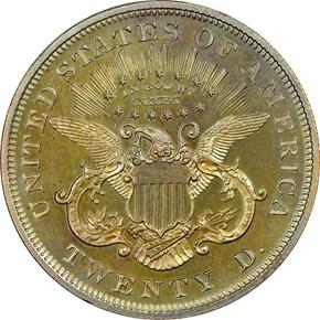 1865 J-453 $20 PF reverse