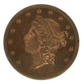 1865 J-453 $20 PF obverse