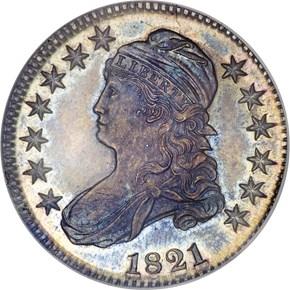 1821 50C SP obverse