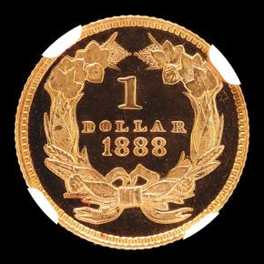 1888 G$1 PF reverse
