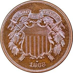 1868 2C PF obverse