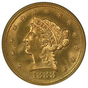 1888 $2.5 MS obverse