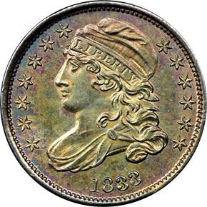 1833 10C MS obverse