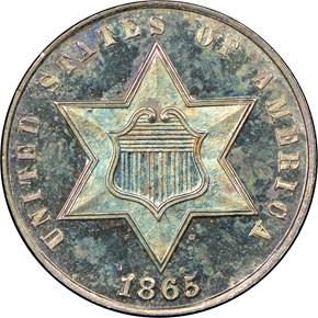 1865 3CS PF obverse