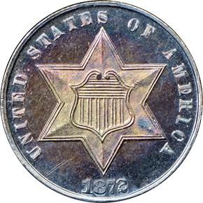 1872 3CS PF obverse
