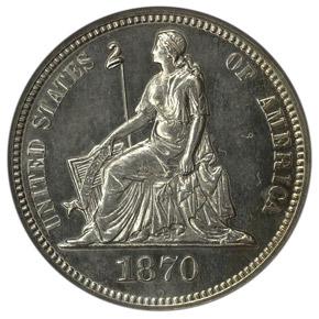 1870 J-832 10C PF obverse