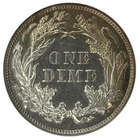 1870 J-832 10C PF reverse