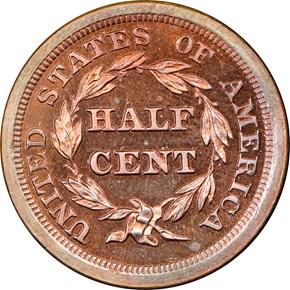 1855 1/2C PF reverse