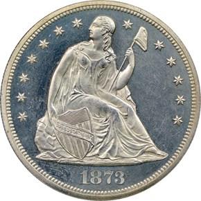 1873 S$1 PF obverse