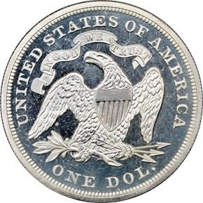 1873 $1 PF reverse