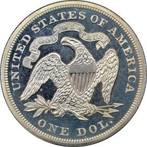 1873 S$1 PF reverse