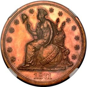 1871 J-1147 S$1 PF obverse