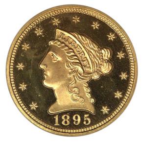 1895 $2.5 PF obverse