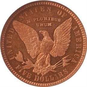 1878 J-1576 $5 PF reverse