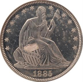 1885 J-1746 50C PF obverse