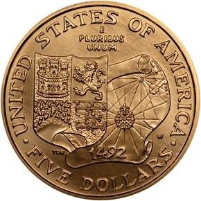 1992 W COLUMBUS QUINCENTENARY $5 MS reverse