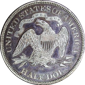 1876 CC 50C PF reverse