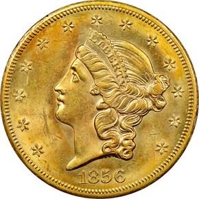 1856 S $20 MS obverse