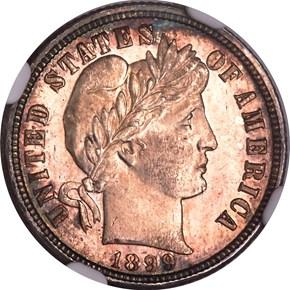 1899 O 10C MS obverse