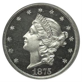 1875 J-1449 $20 PF obverse