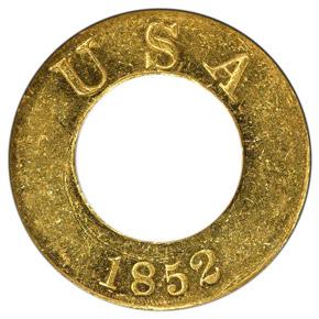 1852 J-141 G$1 PF obverse