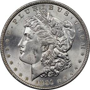 1891 $1 MS obverse