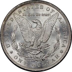 1891 $1 MS reverse