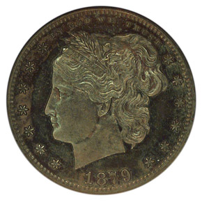 1879 J-1591 25C PF obverse