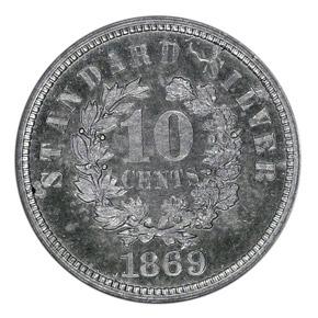 1869 J-707 10C PF reverse