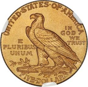 1913 $5 PF reverse