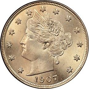 1907 5C MS obverse