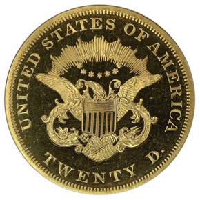 1862 $20 PF reverse