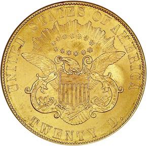 1861 PAQUET $20 MS reverse