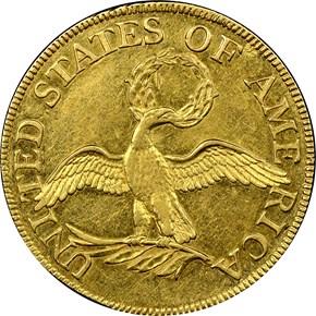 1795 SMALL EAGLE $5 MS reverse