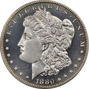 1880 S$1 PF obverse