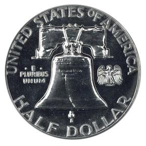 1958 50C PF reverse