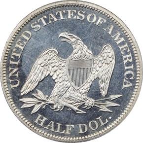 1861 50C PF reverse