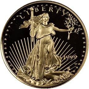 1999 W EAGLE G$5 PF obverse