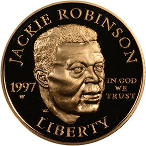 1997 W ROBINSON $5 PF obverse