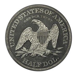 1863 J-340 50C PF reverse